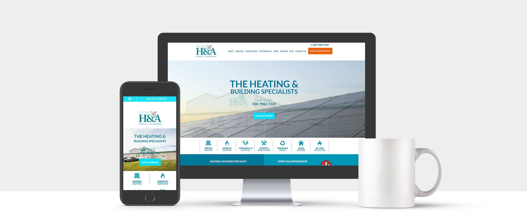 Heating & Building Specialists H&A Mechanical Launch New Modern Website Image