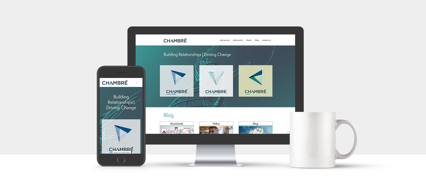 New Website for Belfast Based Communications Agency Chambré Public Affairs Image