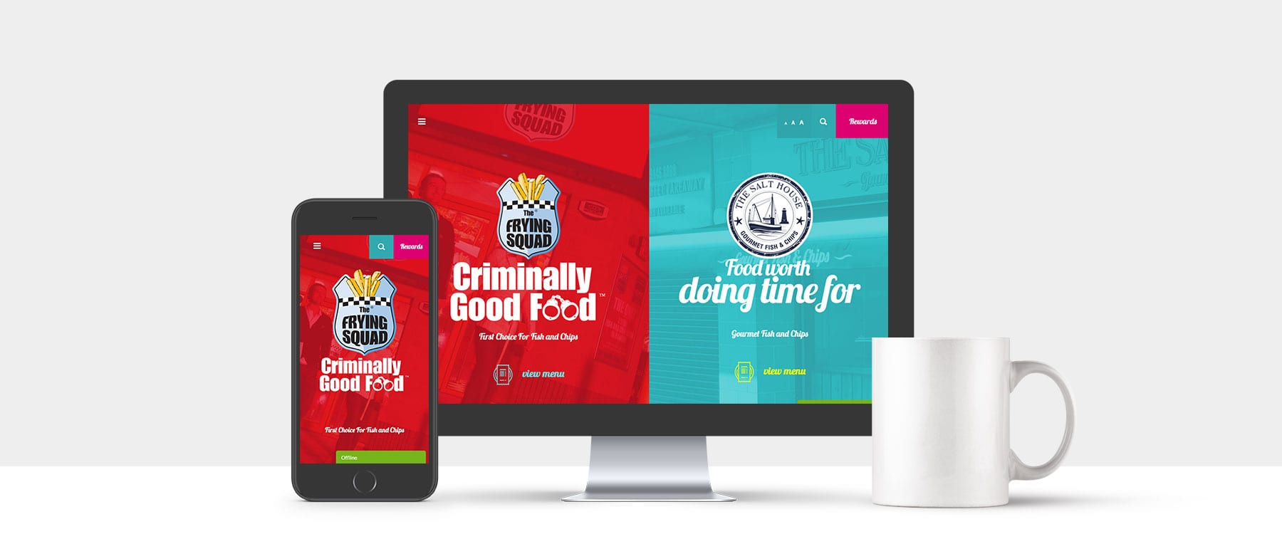 New Website for Multi Award Winning Company The Frying Squad Image