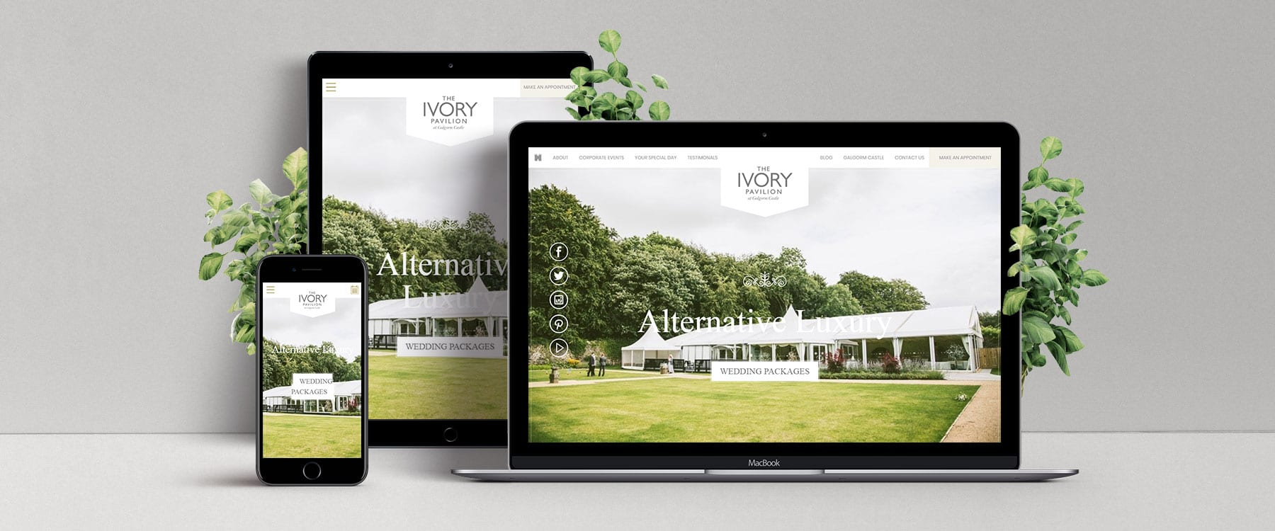 Beautiful & Inspiring Brochure Website for The Ivory Pavilion, Galgorm Image
