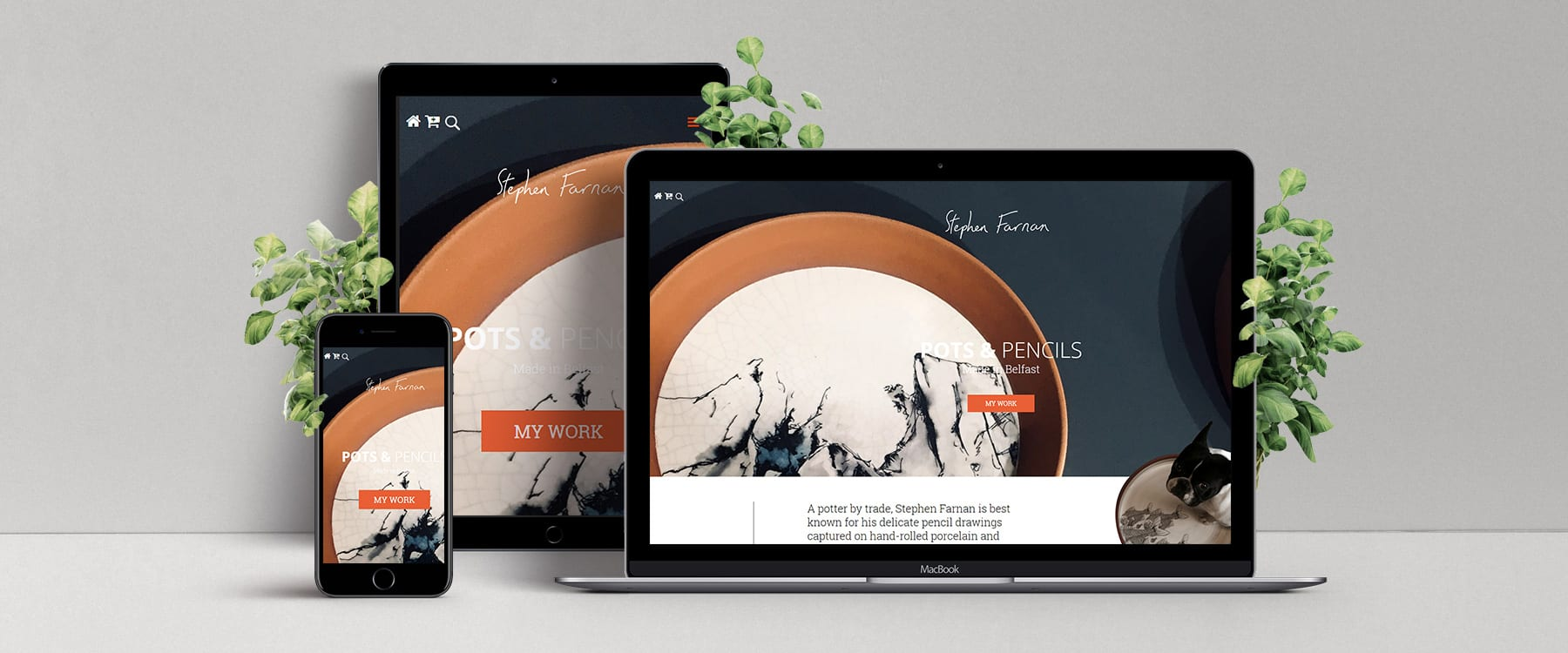 Stephen Farnan Studio Launches Beautiful New eCommerce Website Image