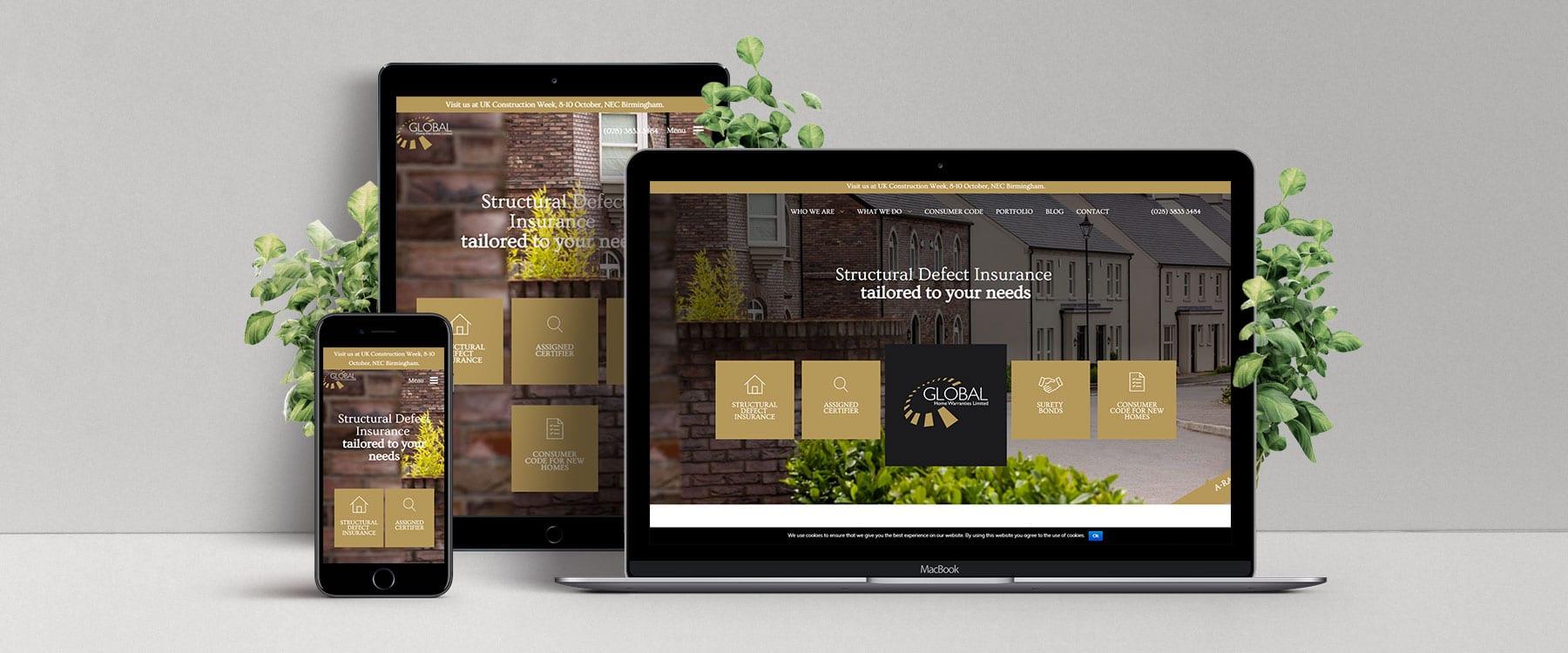 Redevelopment of Global Home Warranties Website Image