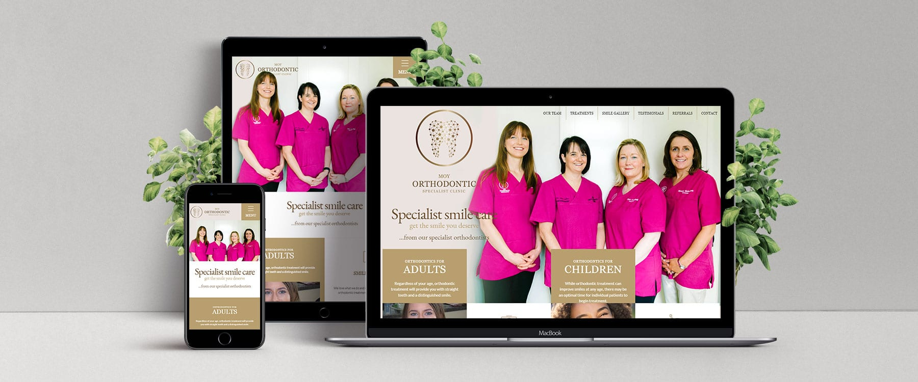 Moy Orthodontic Clinic Launch New Professional Website Image