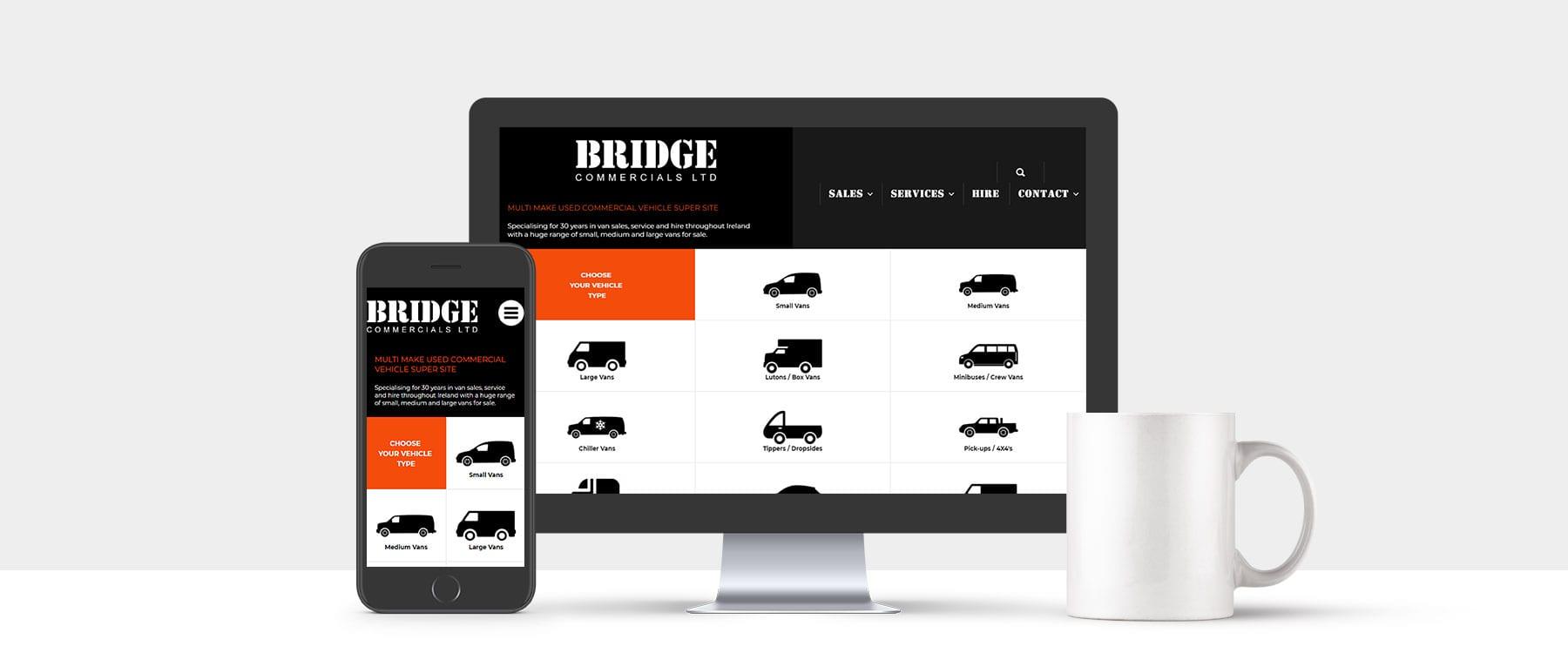 Leading Van Sales Specialist Bridge Commercials Ltd Launch New Website Image