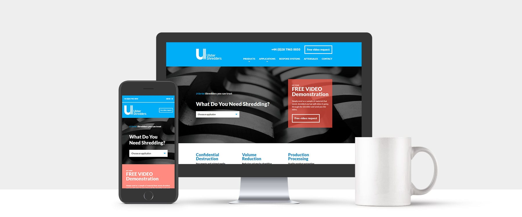 Brand New Contemporary and Innovative Website for Ulster Shredders Image