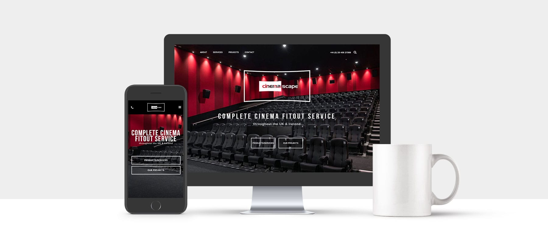 New Brochure Website for Auditorium Fit Out Specialists Cinemascape Image