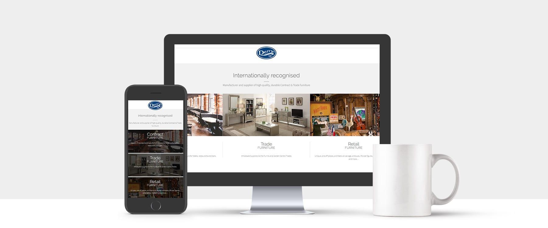 Fresh New Website For Furniture Manufacturer & Supplier Derry's Ltd Image