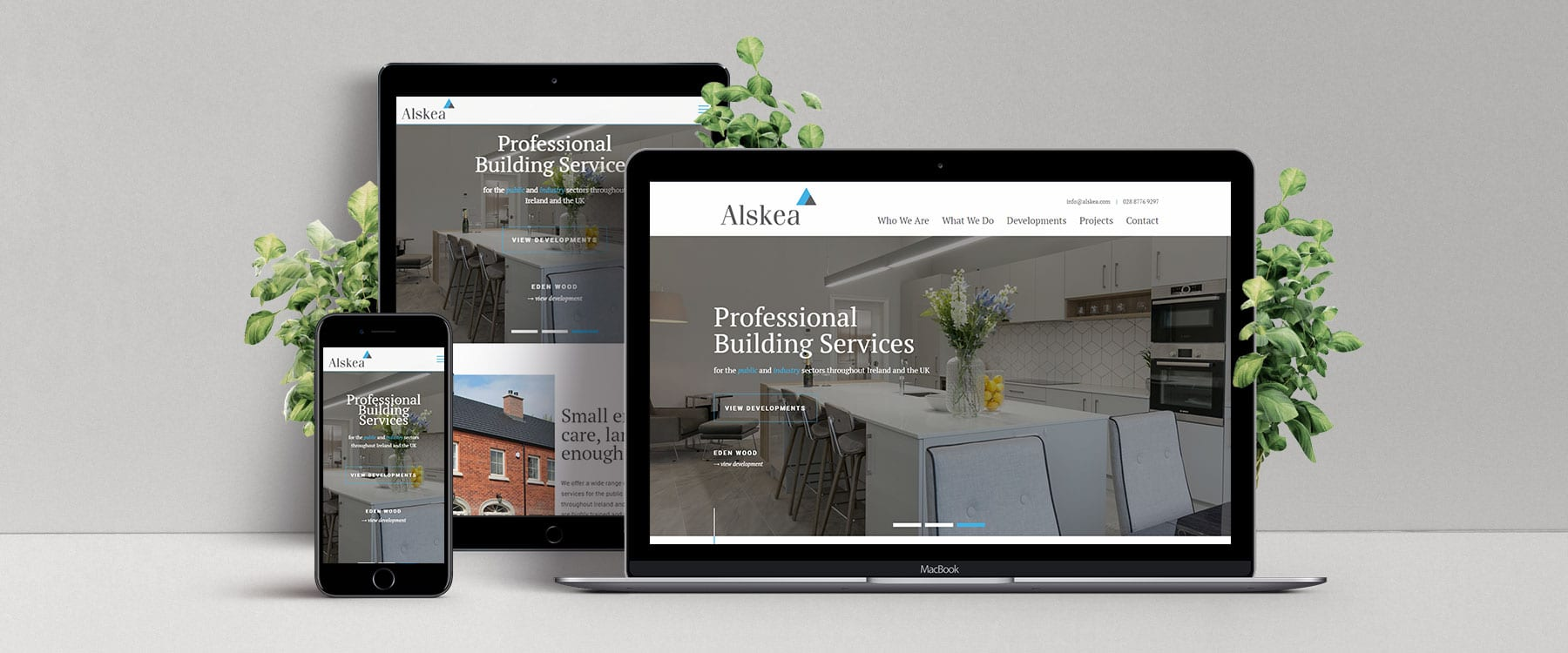 Website Redesign for Professional Building Specialists Alskea Contracts Image