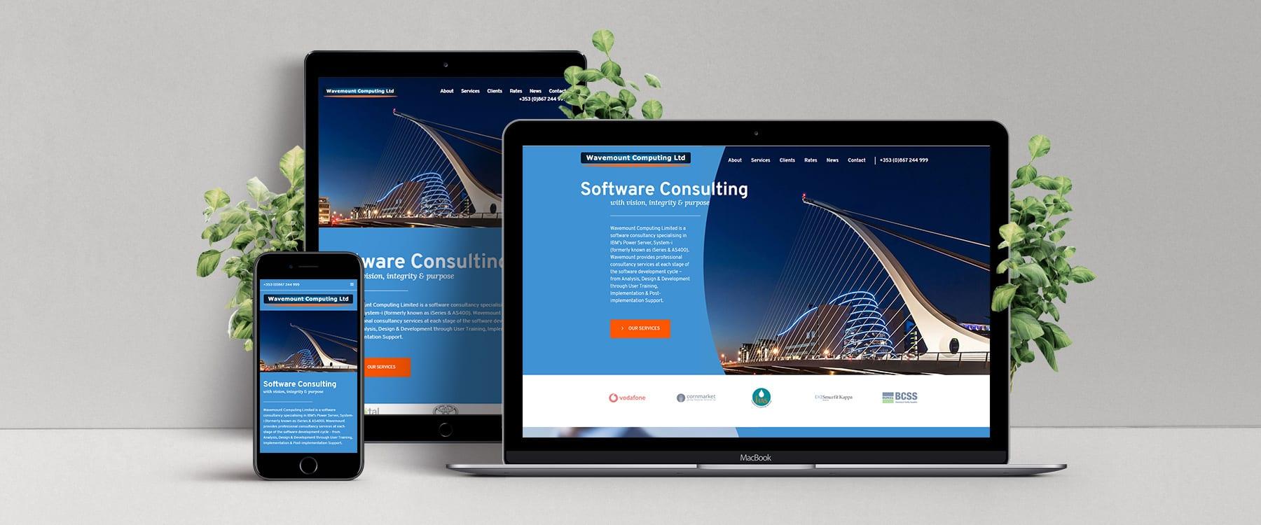 New Contemporary Website for Dublin Software Consultancy, Wavemount Computing Ltd Image