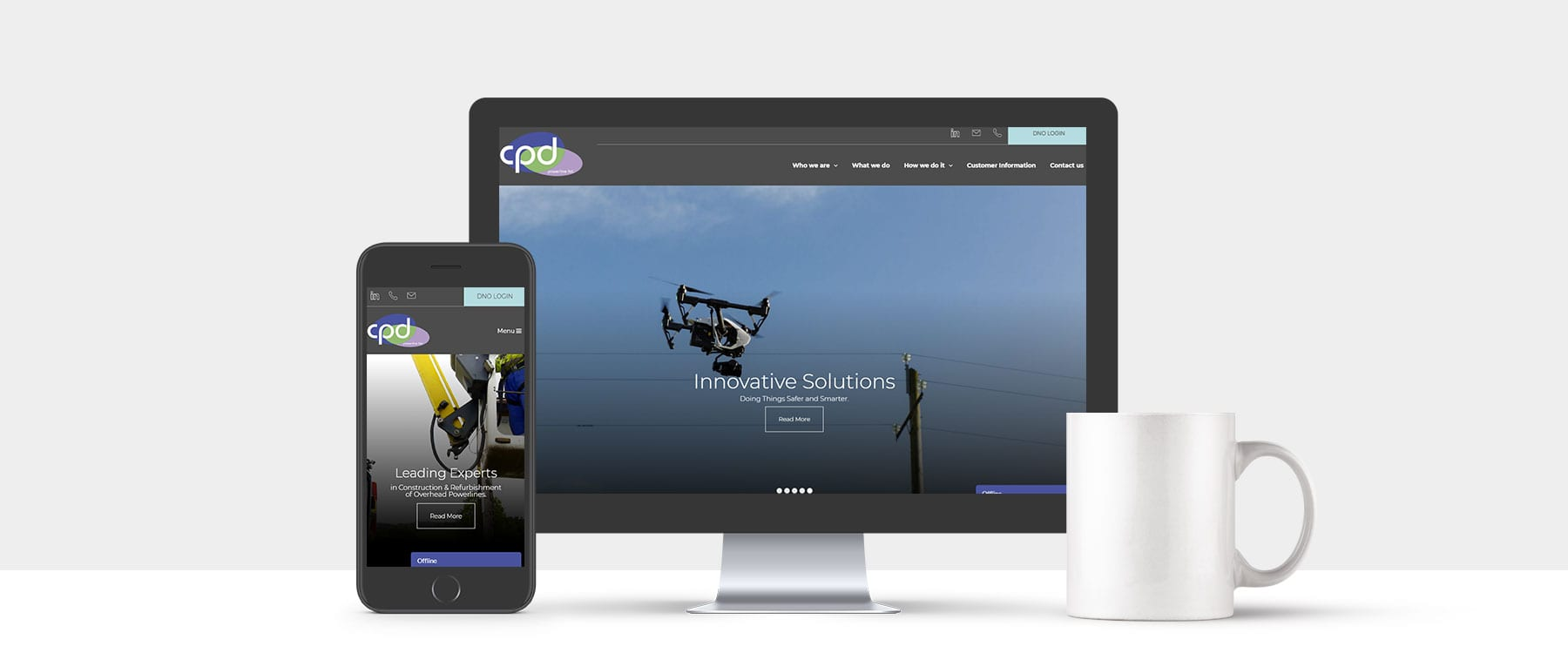 Modern & Innovative Website Redesign for CPD powerline Ltd Image