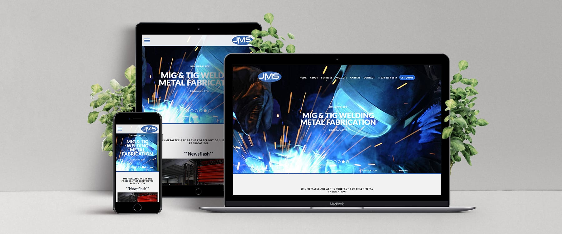 Website Redesign for Sheet Metal Fabrication Specialist, JMS Metaltec Image