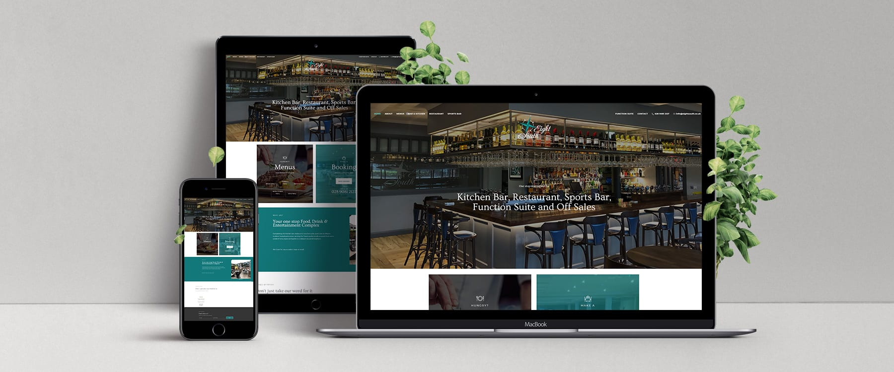 Eight South Bar & Restaurant Launch New Website! Image