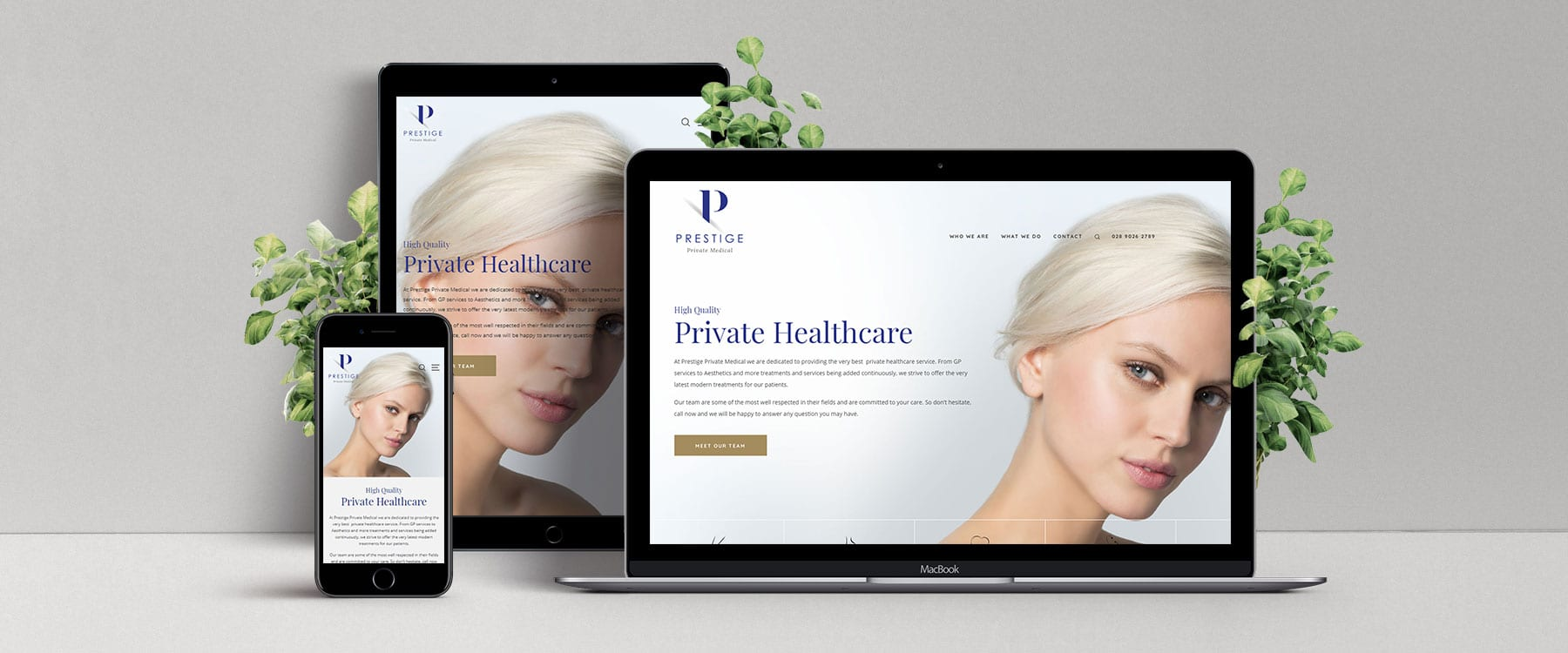 Beautiful Website for Belfast Practice, Prestige Private Medical Ltd Image