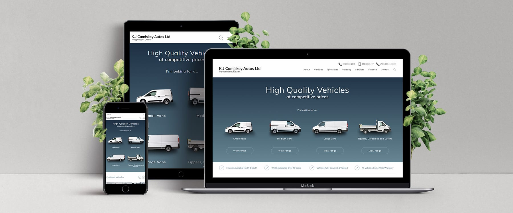 County Armagh Van Sales Specialist, KJ Cumiskey Autos Ltd, Launch New Website Image