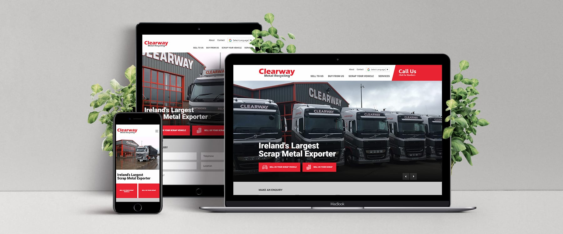 Website Redesign for Ireland's Largest Scrap Metal Exporter, Clearway Group Image