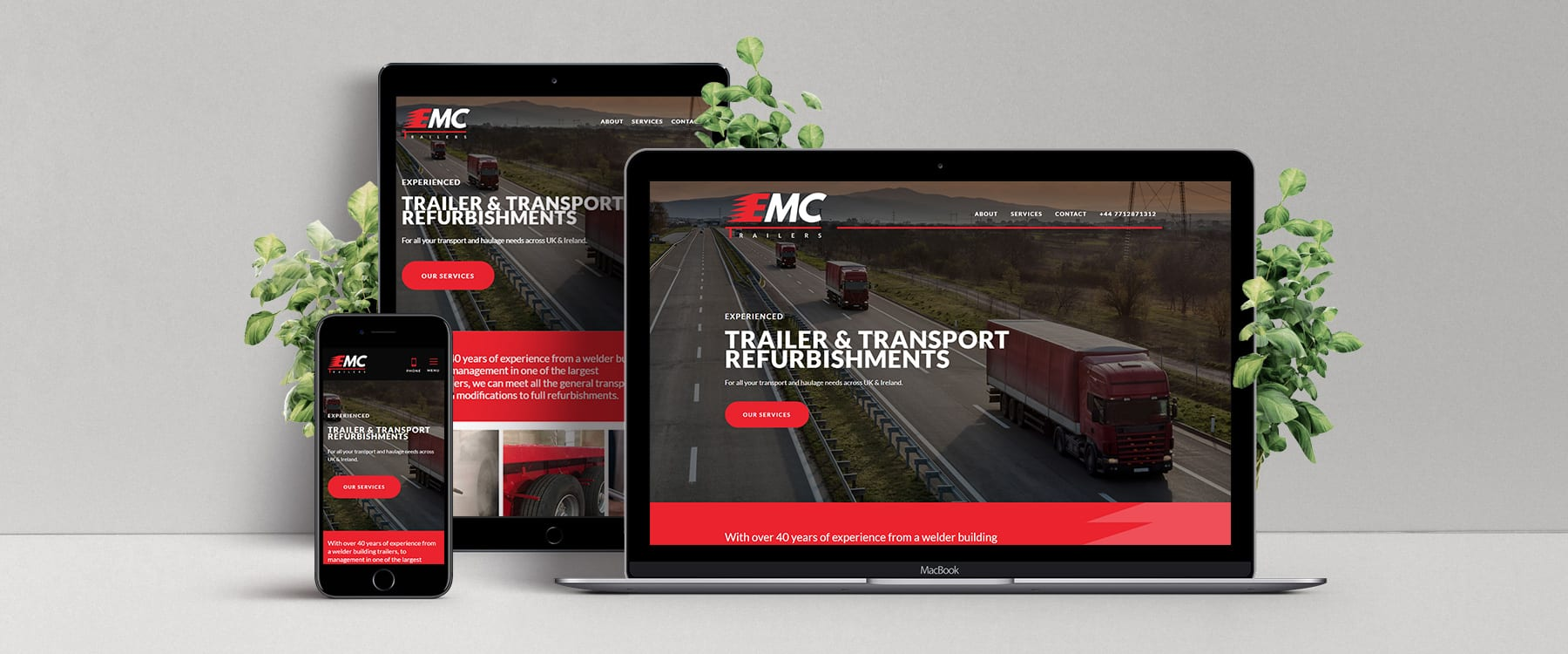 Trailer & Transport Refurbishment Specialists, EMC Trailers, Launch Brand New website Image