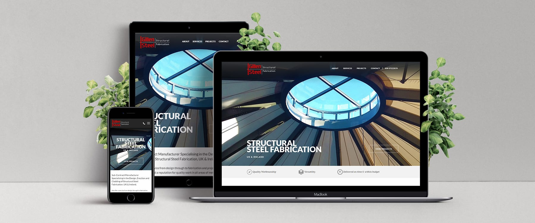 Website redesign for County Armagh Manufacturer Gillen Steel Image