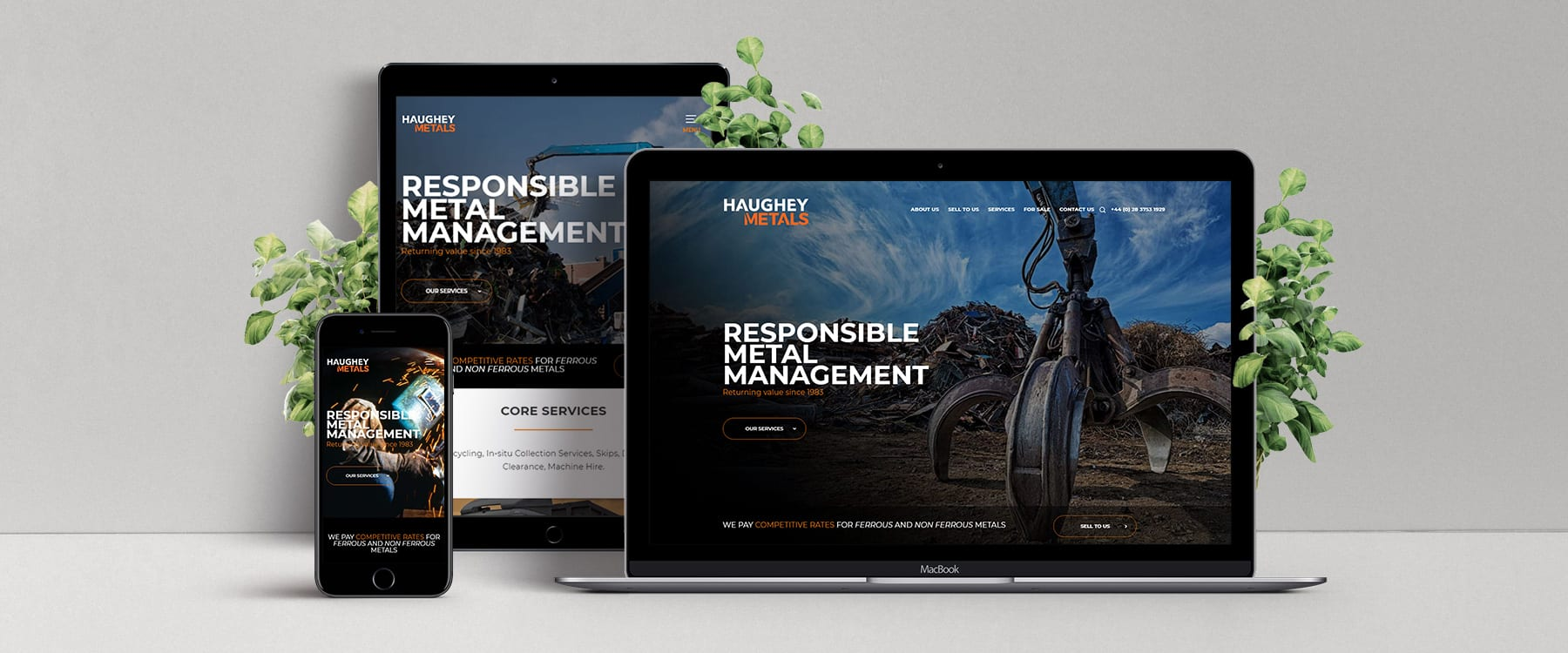County Armagh Metal Management Company, Haughey Metals, Launch Professional New Website Image