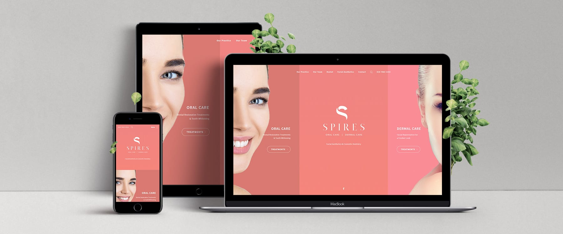 Spires Oral / Dermal Care Launch Visually Stunning New Website Image