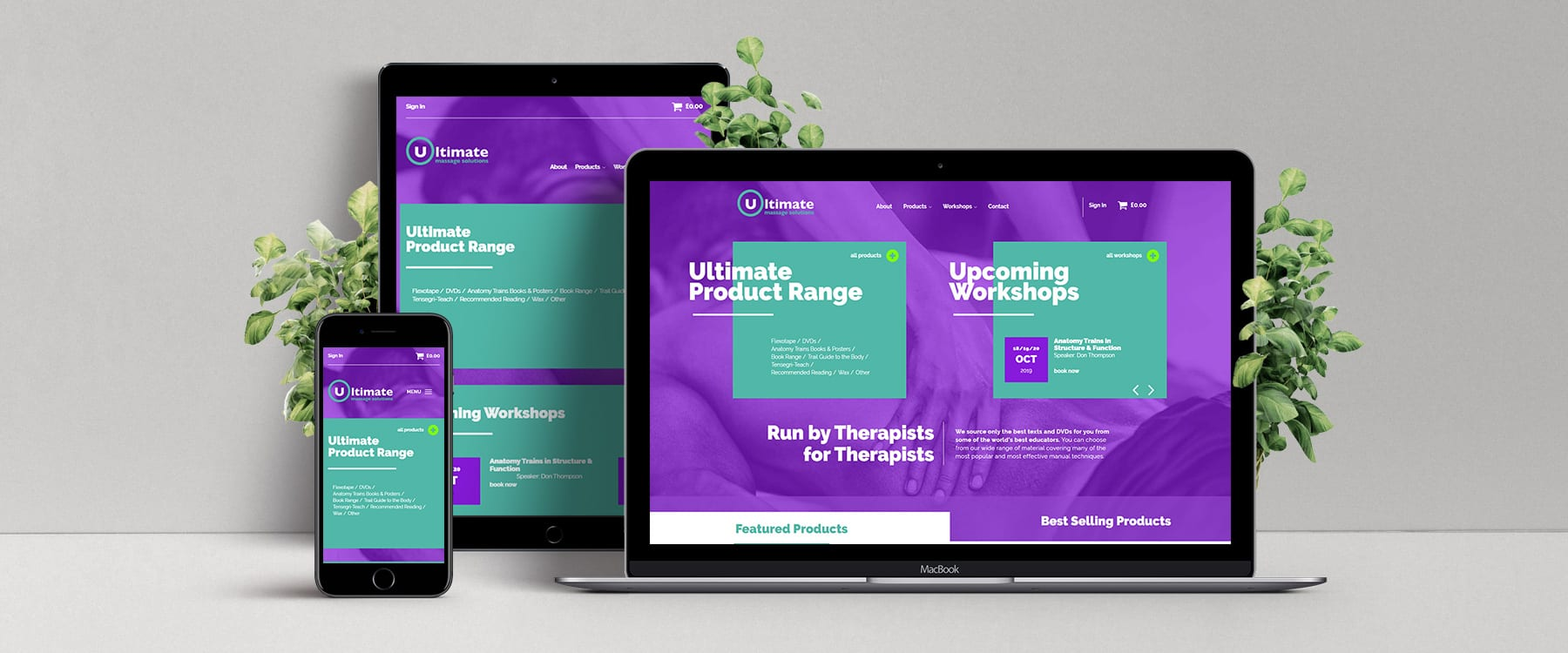 Ultimate Massage Solutions Unveil New eCommerce Website Image