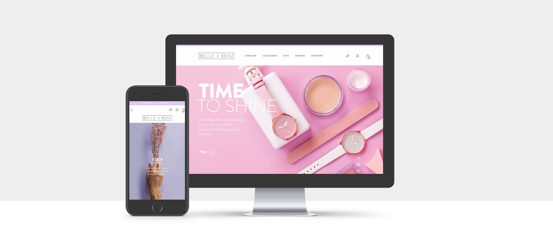 Introducing Belle & Beau's Vibrant New eCommerce Website Image