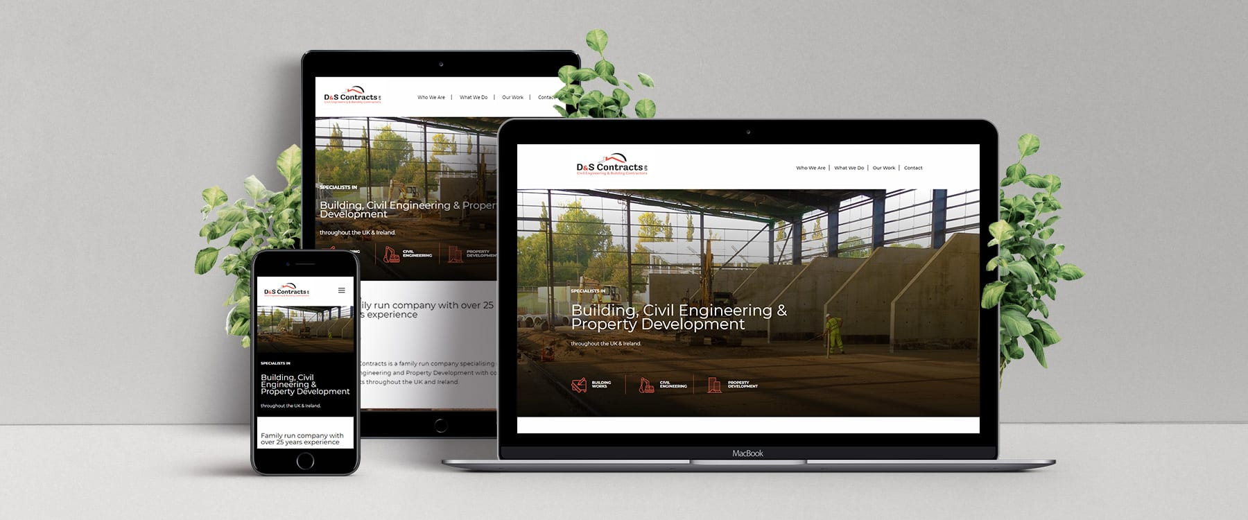 County Down Company, D & S Contracts Launch Brand New Brochure Website Image