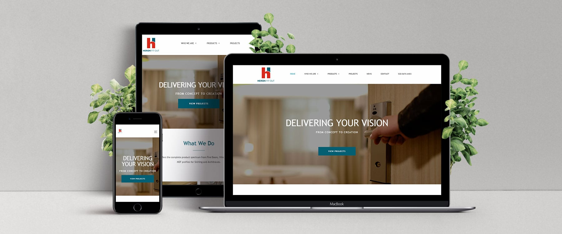 County Tyrone Company, Heron Fit Out Launch Professional New Brochure Website Image