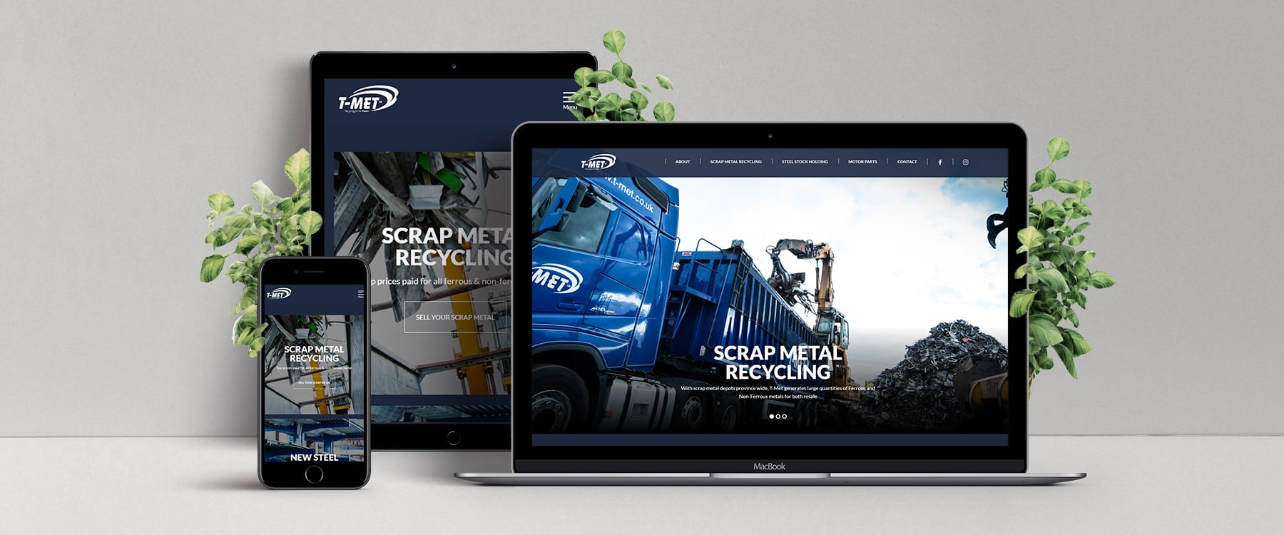 Northern Ireland's Leading Scrap Metal Recycling Company, T-Met Ltd, Unveil Redesigned Website Image
