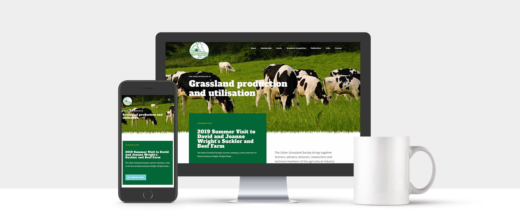 Ulster Grassland Society Launch New Contemporary Website Image