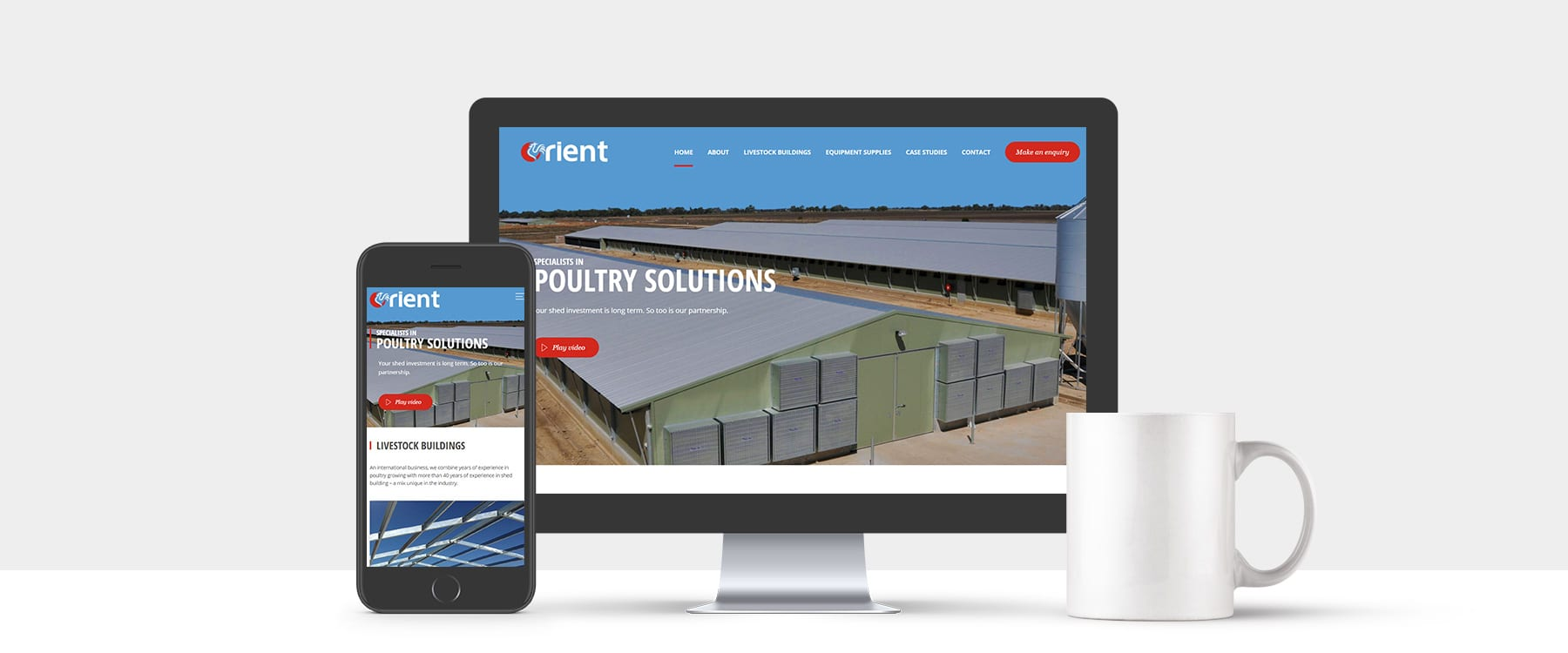 International Specialists in Poultry Solutions, Orient, Launch Visually Engaging Brochure Website Image
