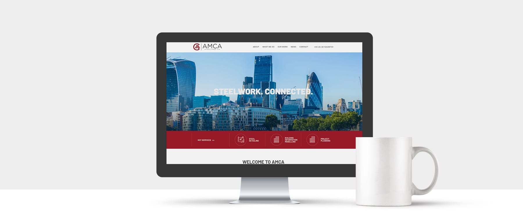 Bespoke Website Design for CAD Specialists, AMCA Structures Image