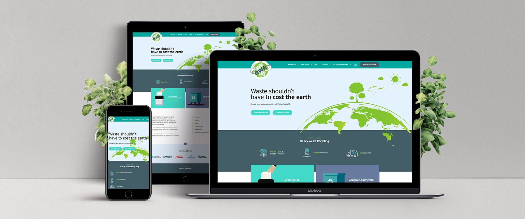 New Contemporary Web Design for Bailey Waste Recycling Image