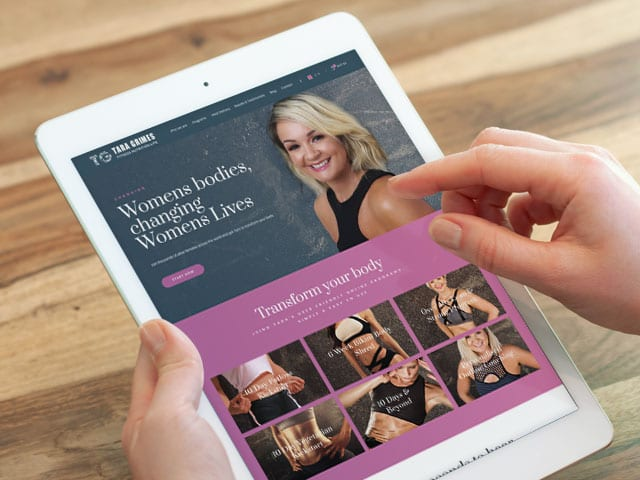 Website Redesign for Passionate Fitness & Nutrition Expert, Tara Grimes Featured Image