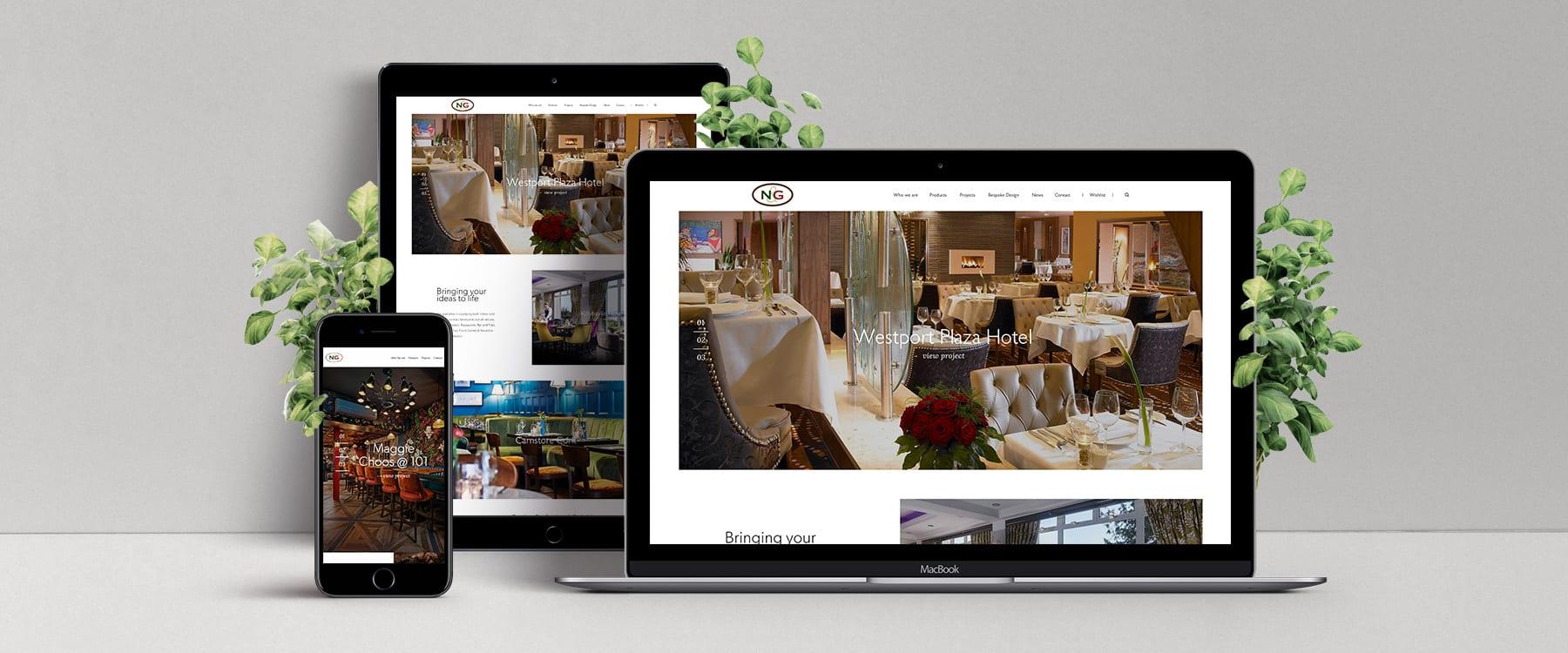 Visual Brochure Website for Contract Furniture Manufacturer, Nugent & Gibney Image