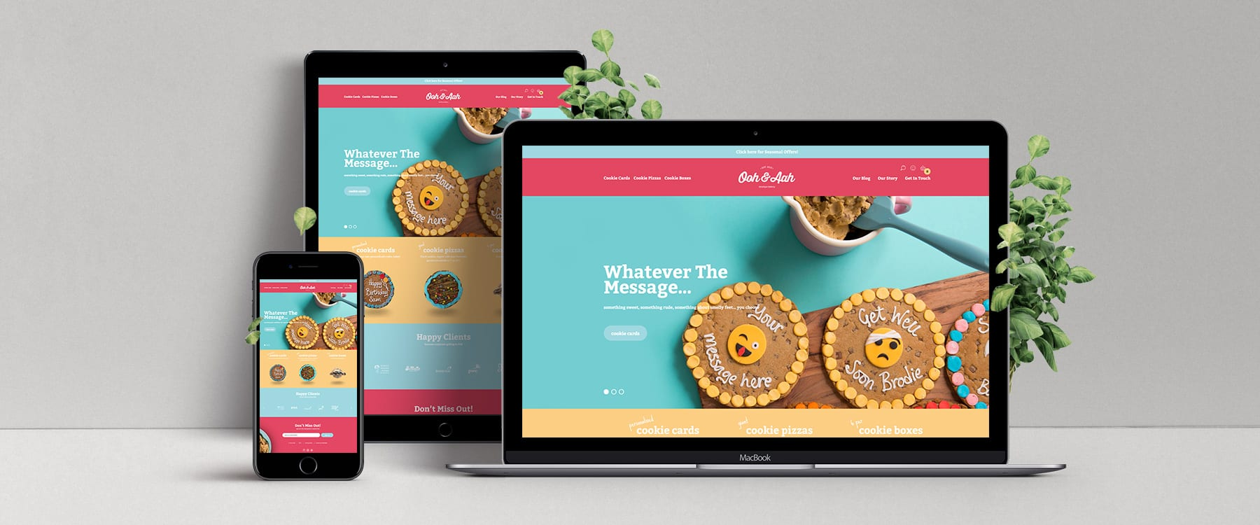 Ooh and Aah Get a Delicious New Website! Image