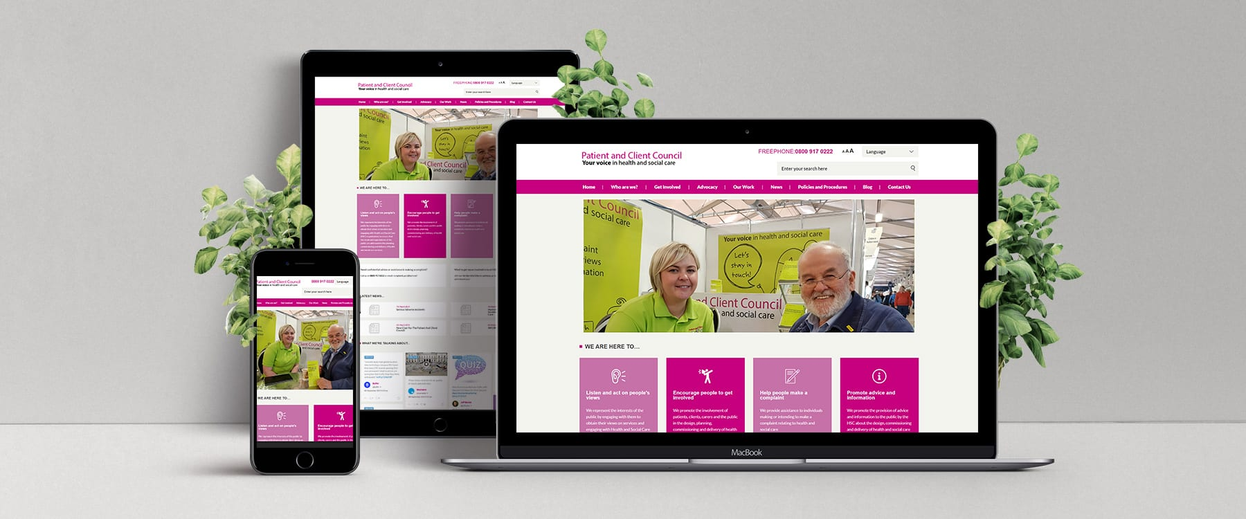 Engaging New Website for Patient Client Council Image