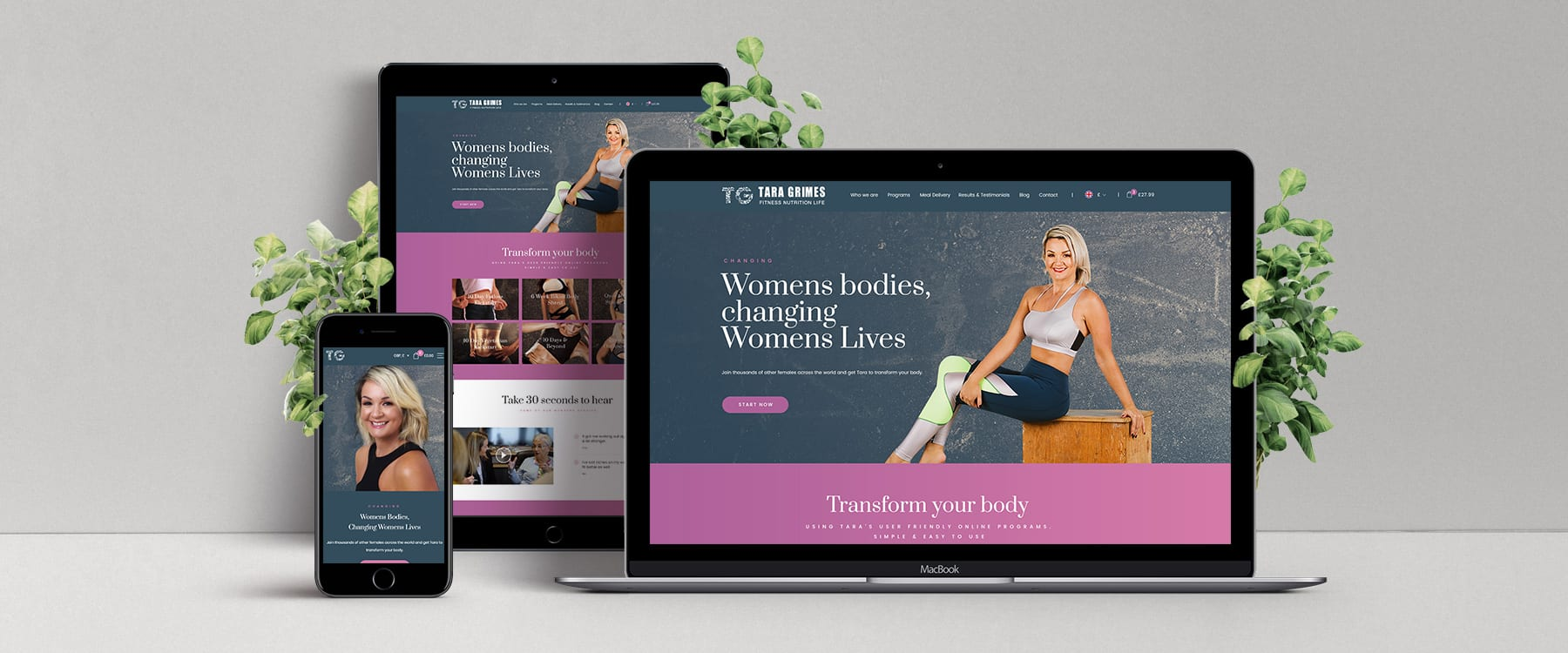 Website Redesign for Passionate Fitness & Nutrition Expert, Tara Grimes Image