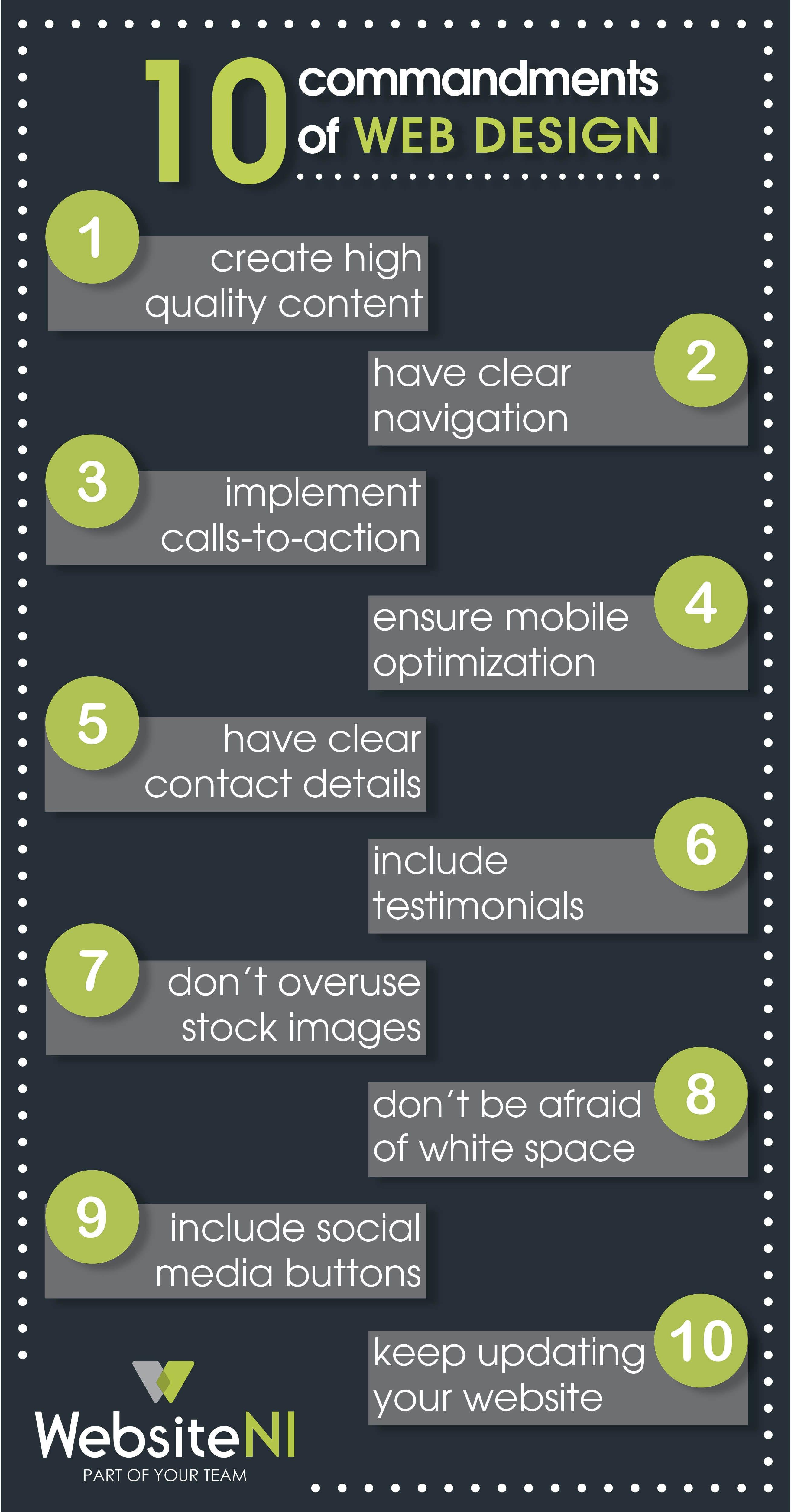 10 Commandments Of Web Design Websiteni