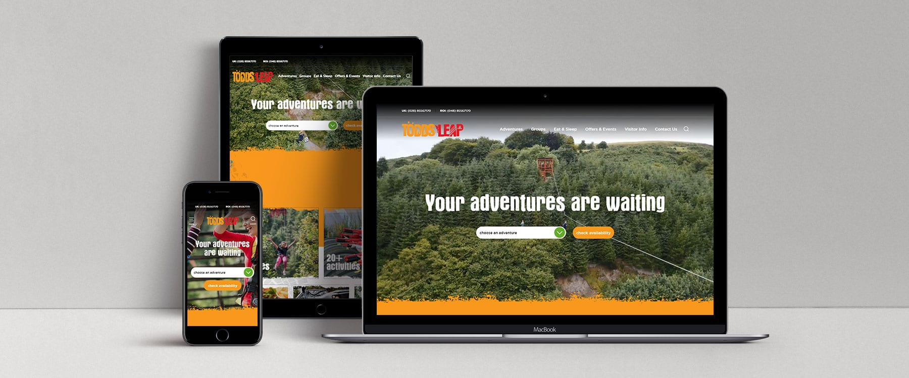 Exciting New Website For Award-Winning Outdoor Activities Centre, Todds Leap Image