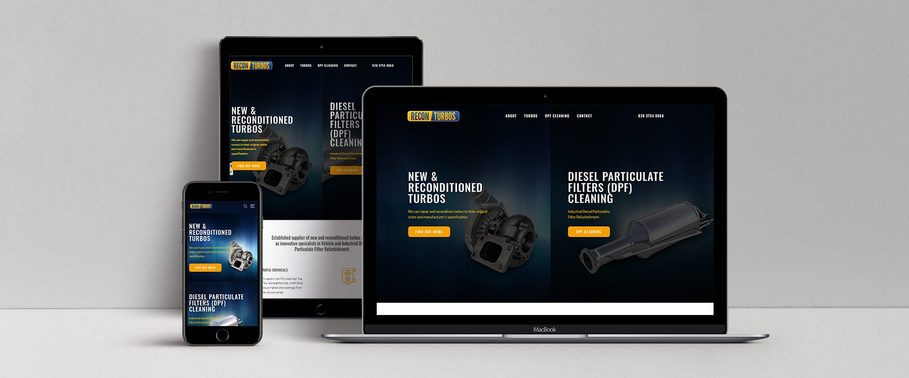 Modern Website Redesign for County Tyrone Business, Recon Turbos Image