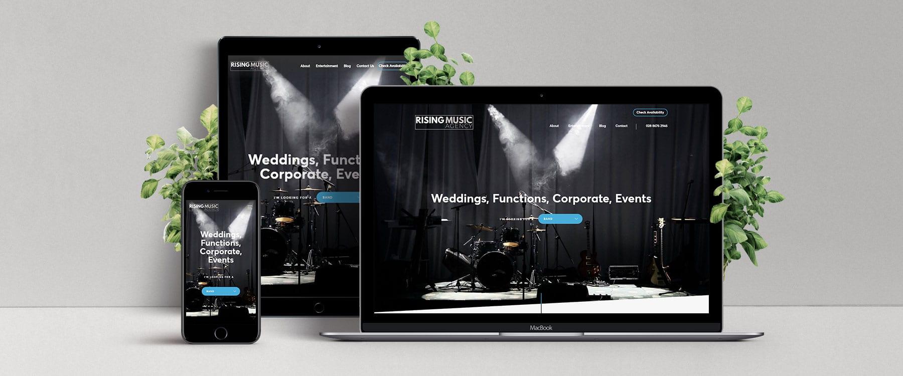 Brand New Website for Rising Music Agency Image
