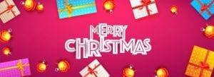 Christmas web graphic festive