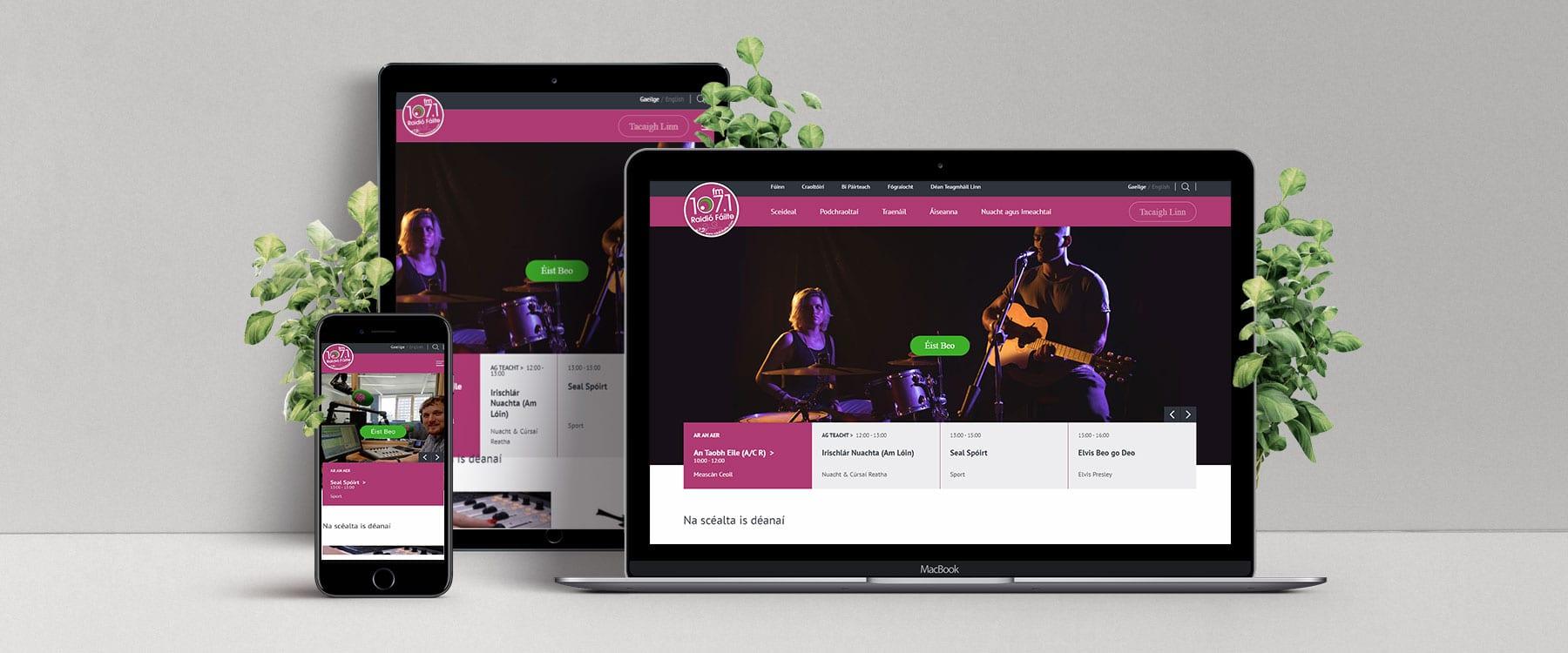 Website Revamp for Raidió Fáilte Image