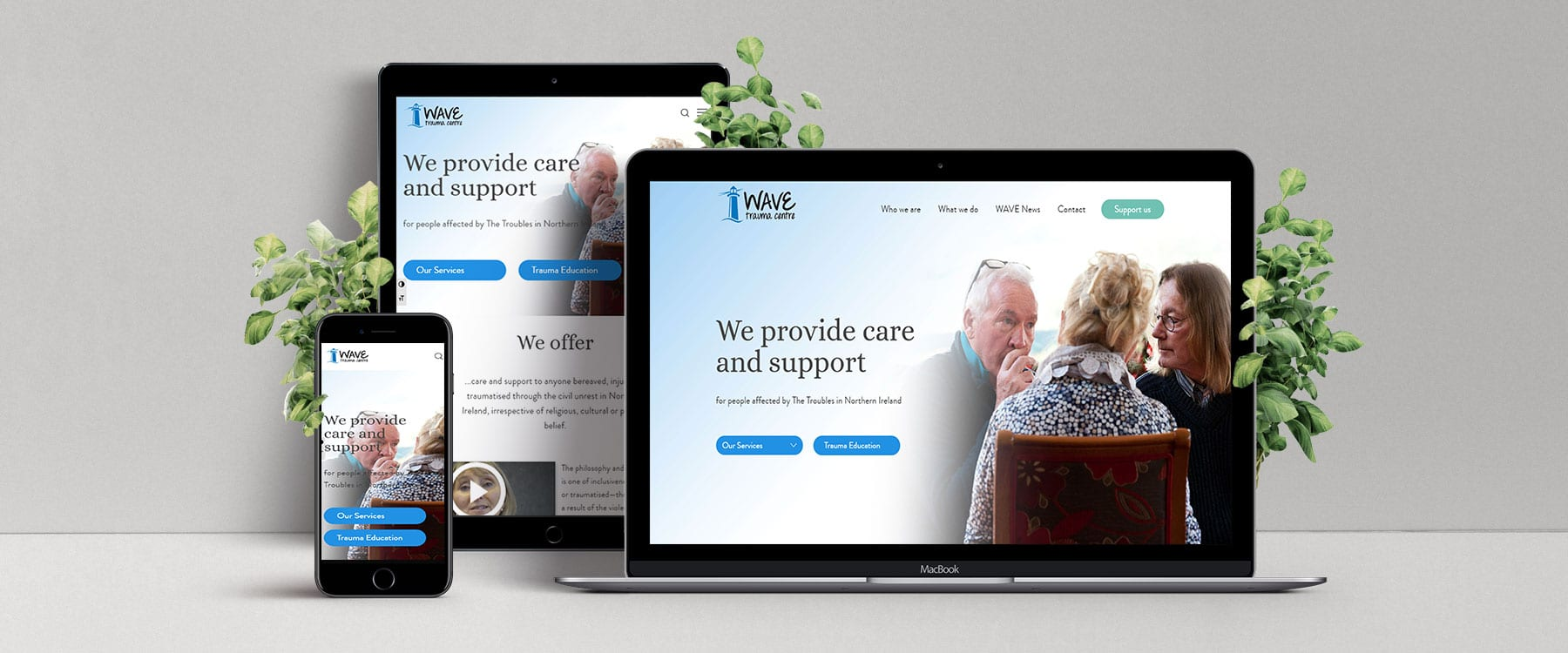 Clear and Contemporary New Website for WAVE Image