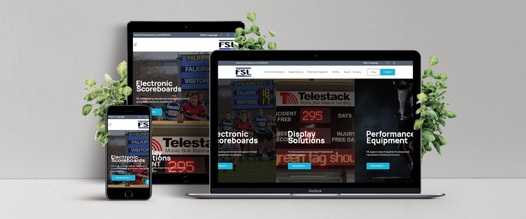 Cool & Contemporary Website for FSL Scoreboards Image