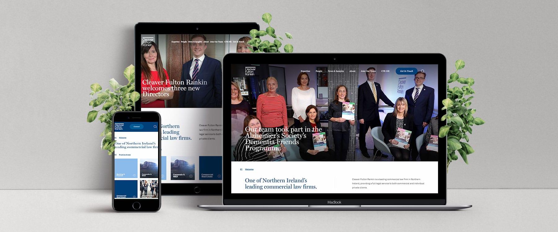 Sleek, Engaging New Website for Cleaver Fulton Rankin Image