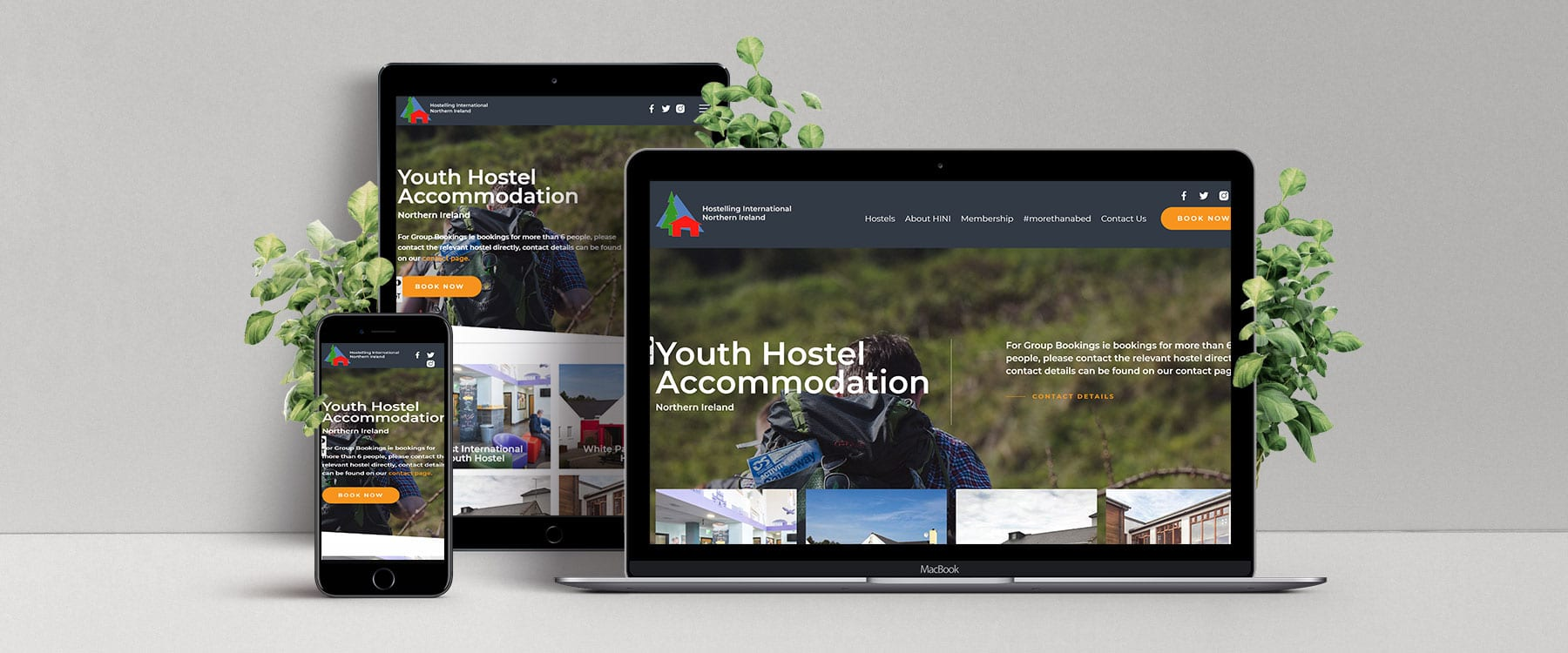 Brand new, contemporary website for Hostelling International NI Image