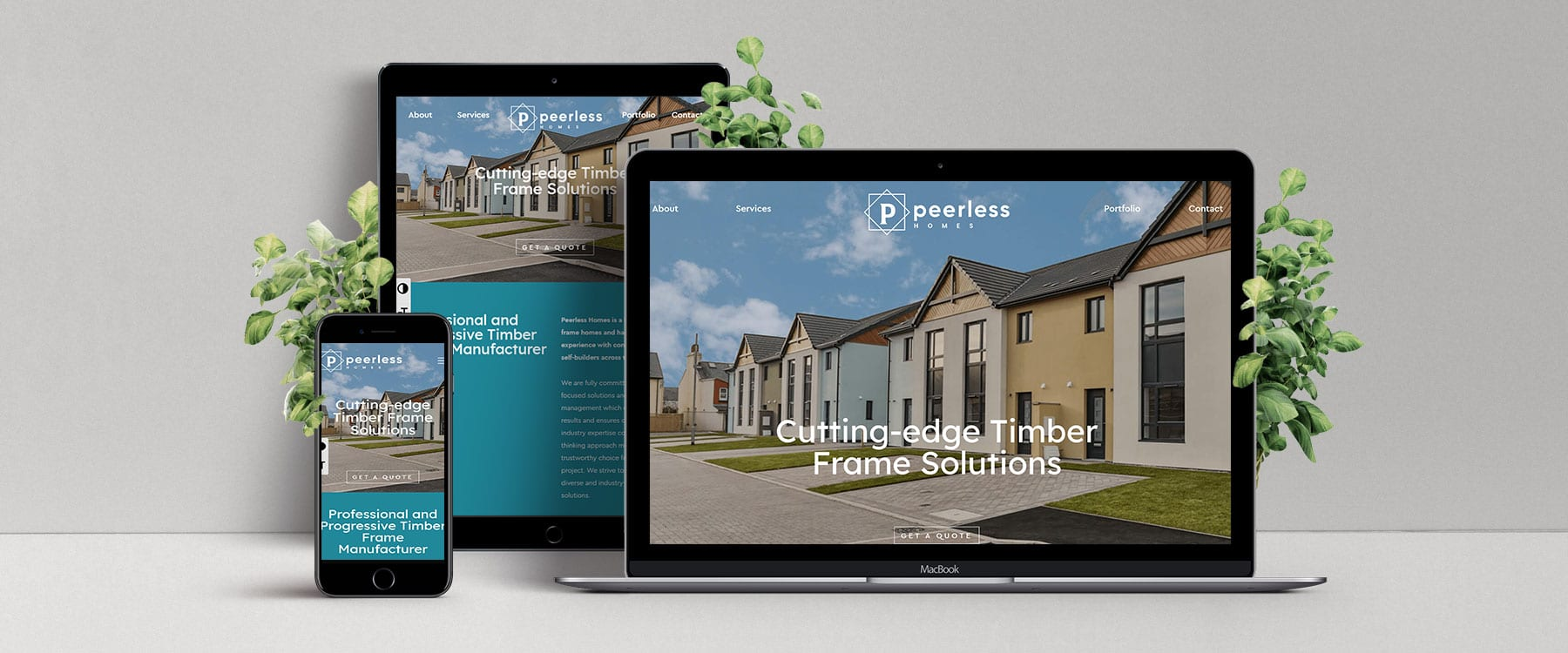 Sleek, engaging new website for Peerless Homes Image