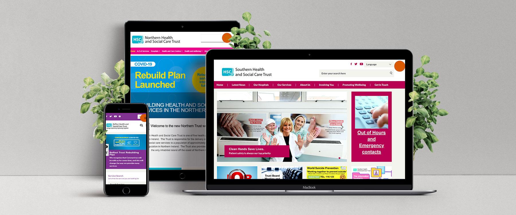 Health Trusts Northern Ireland: Creating Modern, Informative & Important Websites Image