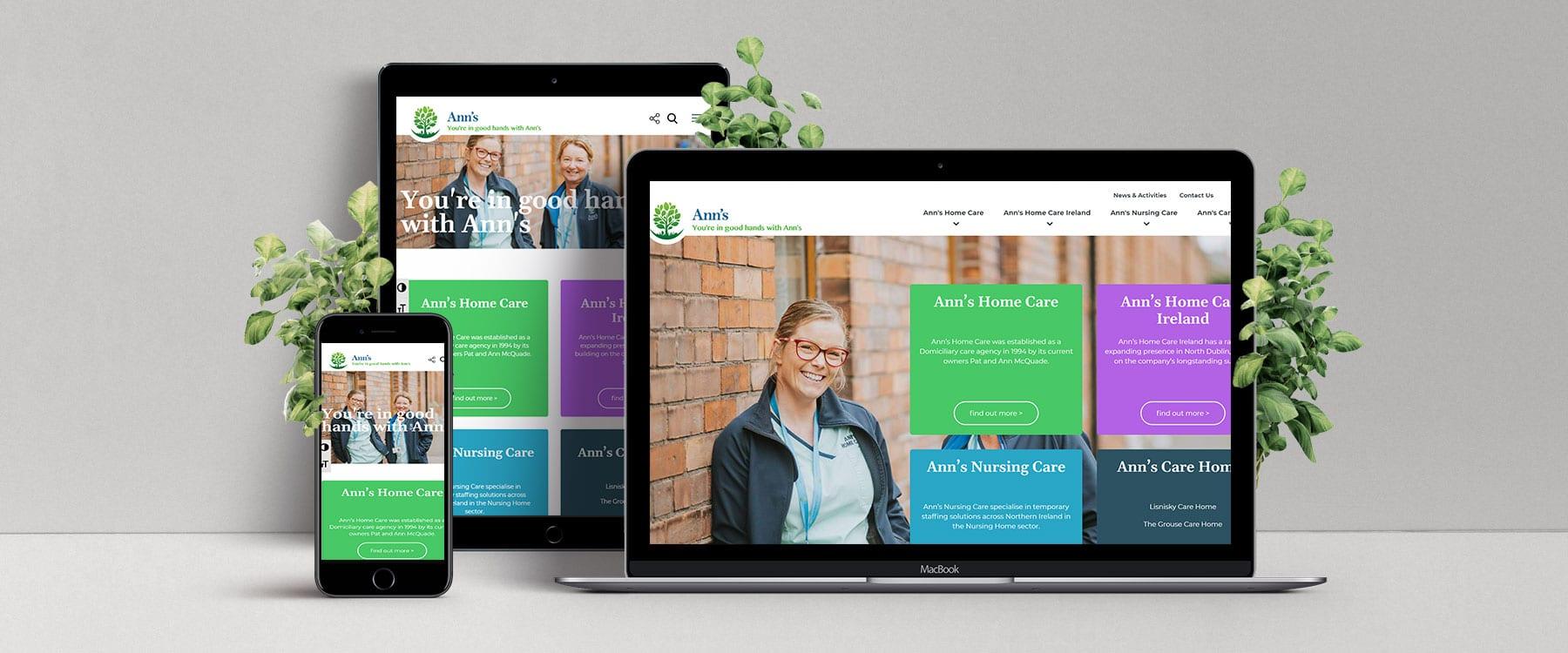 Modern New Website for Ann's Home Care Image